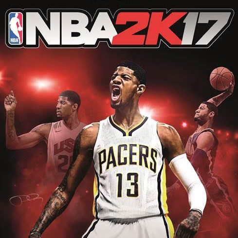 NBA-superster Paul George siert cover van NBA 2K17