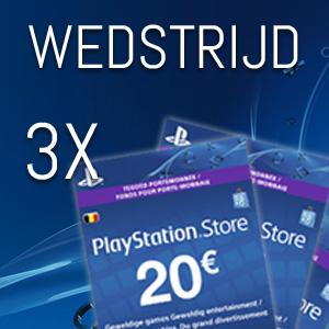 Win 1 van de 3 PSN kaarten van 20 euro
